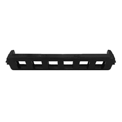 6 PORT HIGH DENSITY BIX TYPE KEYSTONE BRACKET, BLACK