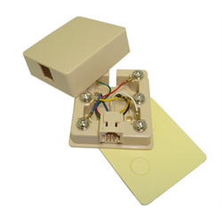 SURFACE JACK 6C WITH ADHESIVE TAPE, IVORY