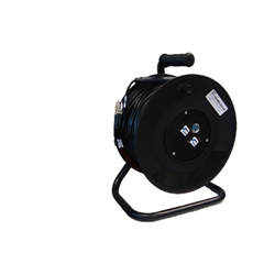 TSOC CABLE CADDY LOADED REEL WITH 300FT MM OUTDOOR FIBER 2 X LC DUPLEX MALE TO 2