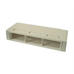 3 BEZEL KEYSTONE SURFACE OUTLET, IVORY