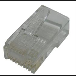 10P10C RJ50 SOLID MOD PLUG, 10PCS/PKG
