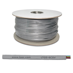 1000FT/305M FT1 28AWG 6 CONDUCTOR FLAT STRANDED TELEPHONE CABLE, SILVER SATIN