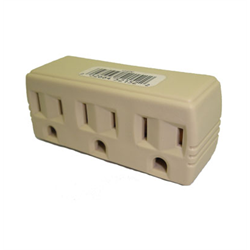 3 OUTLET POWER TAP, IVORY
