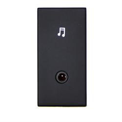 TELEADAPT 25MM - MINI CLIP 3.5MM AUDIO MODULE FEMALE TO FEMALE, BLACK