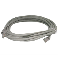 1FT CAT 5E MOLDED BOOTED PATCH CABLE, GREY