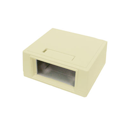 1 BEZEL KEYSTONE SURFACE OUTLET, IVORY