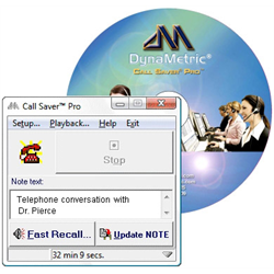 DYNAMETRIC CALLSAVER PRO KIT#1 (INCLUDES RECORDING ADAPTER + CALLSAVER SOFTWARE)