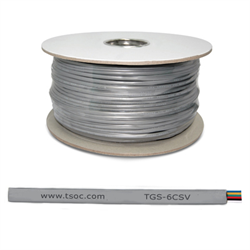 1000FT/305M FT1 26AWG 6 CONDUCTOR FLAT STRANDED TELEPHONE CABLE, SILVER SATIN