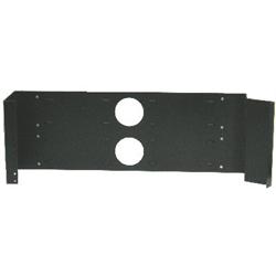 "HINGED WALL MOUNT RACK 4U 19.0""X7.0""X5.0"", BLACK"