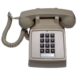 REFURBISHED SINGLE LINE TOUCH TONE DESK PHONE 2500 SERIES, IVORY