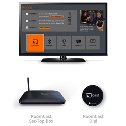 TELEADAPT ROOMCAST WITH MOUNTING BRACKET AND MINI REMOTE BLUETOOTH, BLACK