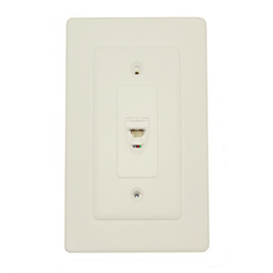 WALL JACK WHITE WITH DOOR 6C, WHITE