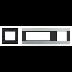 TELEADAPT MINI CLIP EXTENDER TRIM PLATE, BLACK/BRUSHED ALUMINUM