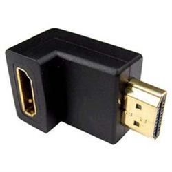 HDMI ADAPTER 90 DEGREE RIGHT ANGLE MALE TO FEMALE, BLACK
