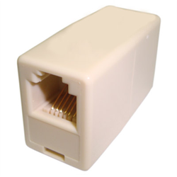 IN LINE COUPLER 6P6C PIN1-PIN1, IVORY