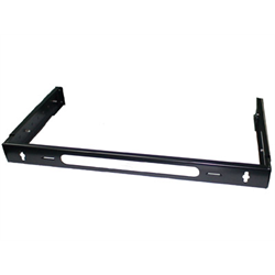 "HINGED WALL MOUNT RACK 1U 1.75"" HEIGHT ADJUSTABLE 9"" THRU 13.8"" DEPTH, BLACK"