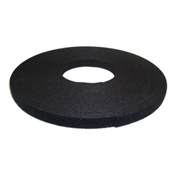 """75FT X 1/2"""" CONTINUOUS HOOK AND LOOP VELCRO, BLACK"""