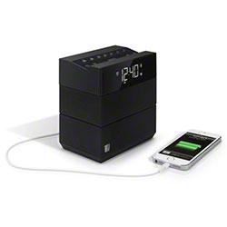 TELEADAPT TA-08H SOUNDRISE HOTEL ALARM CLOCK BLUETOOTH & USB CHARGING, BLACK