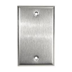 BLANK SINGLE GANG COVERPLATE, STAINLESS STEEL