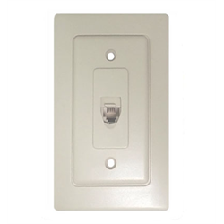 WALL JACK WHITE WITH DOOR 4C, WHITE