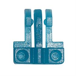 TAMPER RESISTANT RJ LOCK FOR RJ45 MOD PLUG - 10PCS/PKG, BLUE