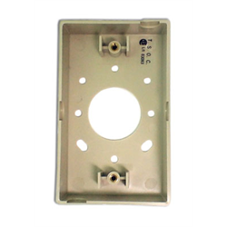 "SURFACE MOUNTING BOX FOR WALL PLATES 1"" DEEP, IVORY"