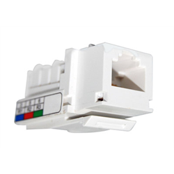 CAT 3 RJ12 KEYSTONE VOICE MODULE 110 WITH CAPS, WHITE