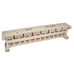 8 PORTS X 6P6C USOC MODULAR TO BIX TYPE DISTRIBUTION ADAPTER, BEIGE