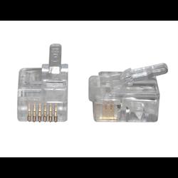 6P6C - MMJ STRANDED MOD PLUG, 100PCS/PKG