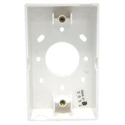 """SURFACE MOUNTING BOX FOR WALL PLATES 1.85"""" DEEP, WHITE"""