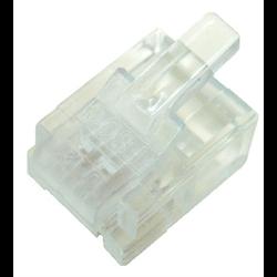 6P6C RJ12 STRANDED MOD PLUG, 100PCS/PKG