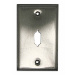 SINGLE GANG FACEPLATE FOR DB09/HD15, STAINLESS STEEL