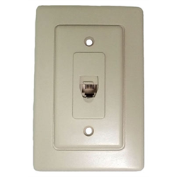 WALL JACK IVORY WITH DOOR 4C, IVORY