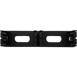 "19"" RACK MOUNTABLE 100 PAIR DISTRIBUTION PATCH PANEL FOR BIX CONNECTORS, BLACK"