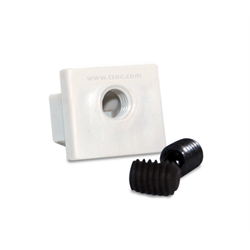 RJ45 MODULAR JACK/PORT LOCK WITH 1/8 HEX BUTTON SCREWS, GREY