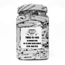 PLAIN SPLICE B CONNECTOR FOR 18-24 AWG WIRE IN CONTRACTOR JAR, 400PCS/PKG