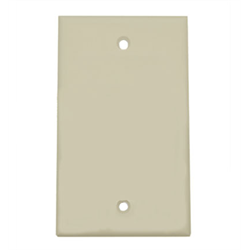 SMOOTH FLUSH COVER PLATE-  BLANK, IVORY