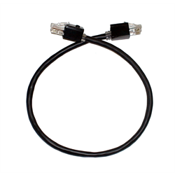 10FT HIGH DENSITY CAT 5E SNAGLESS PATCH CABLE WITH TORX SECURITY LOCK ON BOTH EN