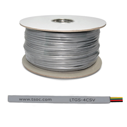 1000FT/305M FT1 28AWG 4 CONDUCTOR FLAT STRANDED TELEPHONE CABLE, SILVER SATIN
