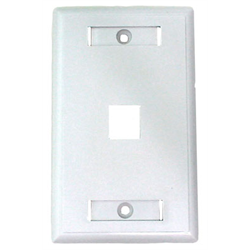 1 PORT DESIGNER KEYSTONE FACEPLATE, WHITE