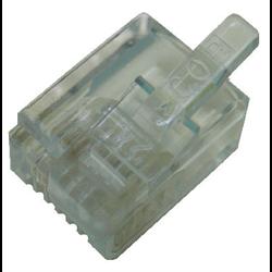 6P6C SOLID MMJ MOD PLUG, 100PCS/PKG