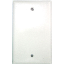 SMOOTH FLUSH COVER PLATE - BLANK, WHITE