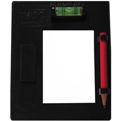 TSOC EZ-Template with Pencil, Network Cabling Tools Part # TM-EZTMP01BK
