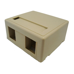 2 PORT KEYSTONE SURFACE OUTLET FOR TM314, IVORY