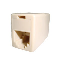 IN LINE COUPLER 6P4C PIN1-PIN4, IVORY
