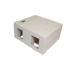 2 PORT KEYSTONE SURFACE OUTLET FOR TM314, WHITE