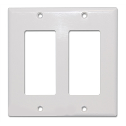 DECORA COVER PLATE DUAL GANG, WHITE