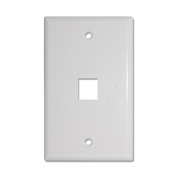 1 PORT KEYSTONE SMOOTH FACEPLATE, WHITE