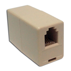 IN LINE COUPLER 4P4C PIN1-PIN4, IVORY